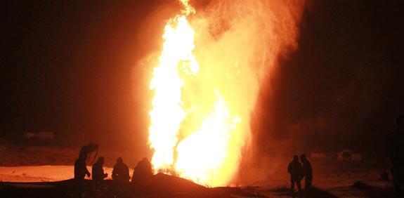 צינור גז, נפט פיגוע במצרים אל עריש / צלם: רויטרס